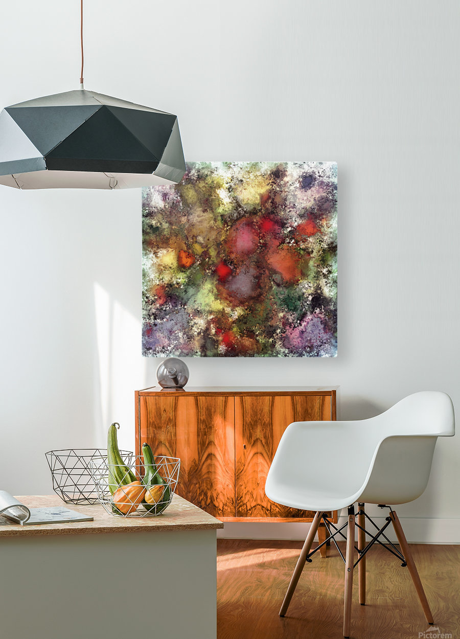 A natural collision of rocks  HD Metal print with Floating Frame on Back