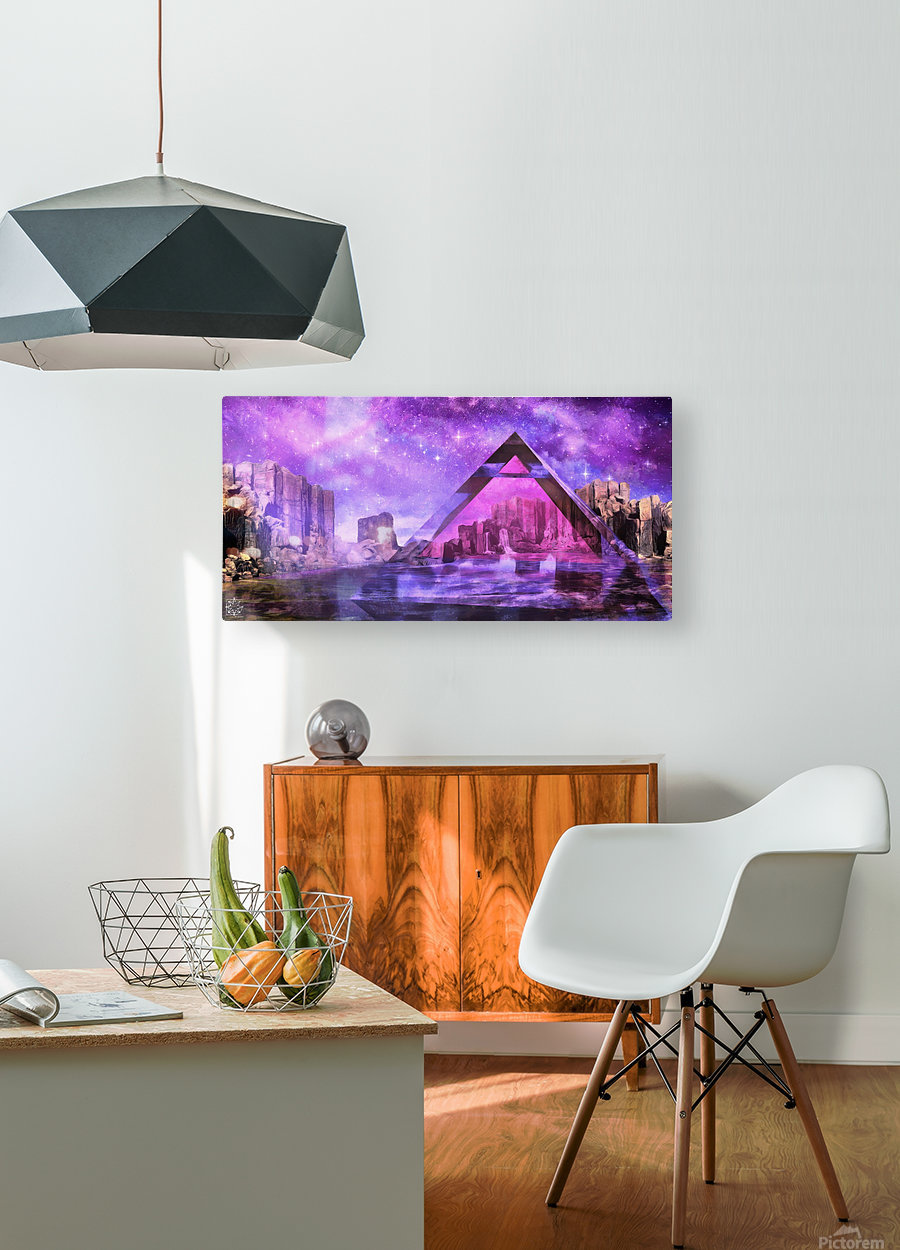 The Water Point  HD Metal print with Floating Frame on Back