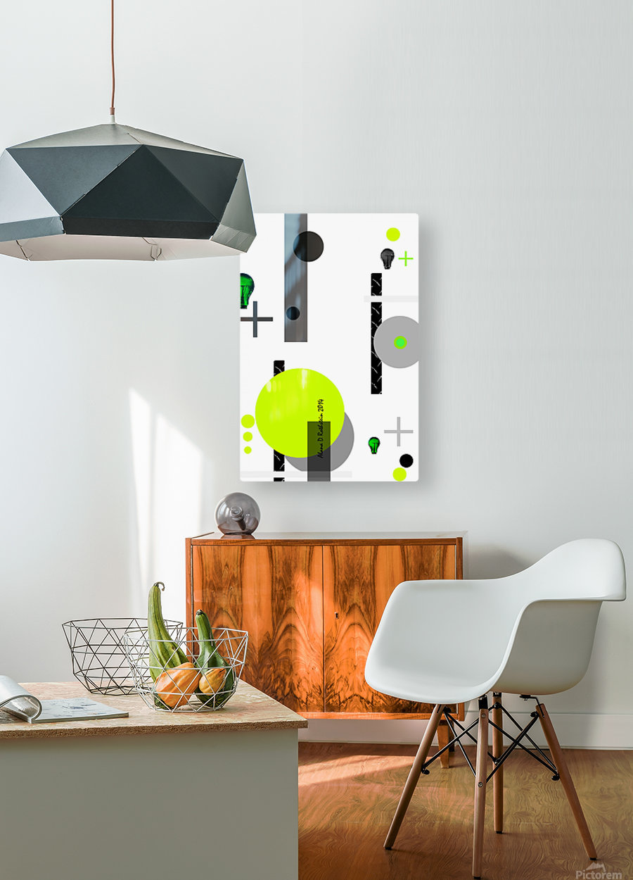 MATH 1  HD Metal print with Floating Frame on Back