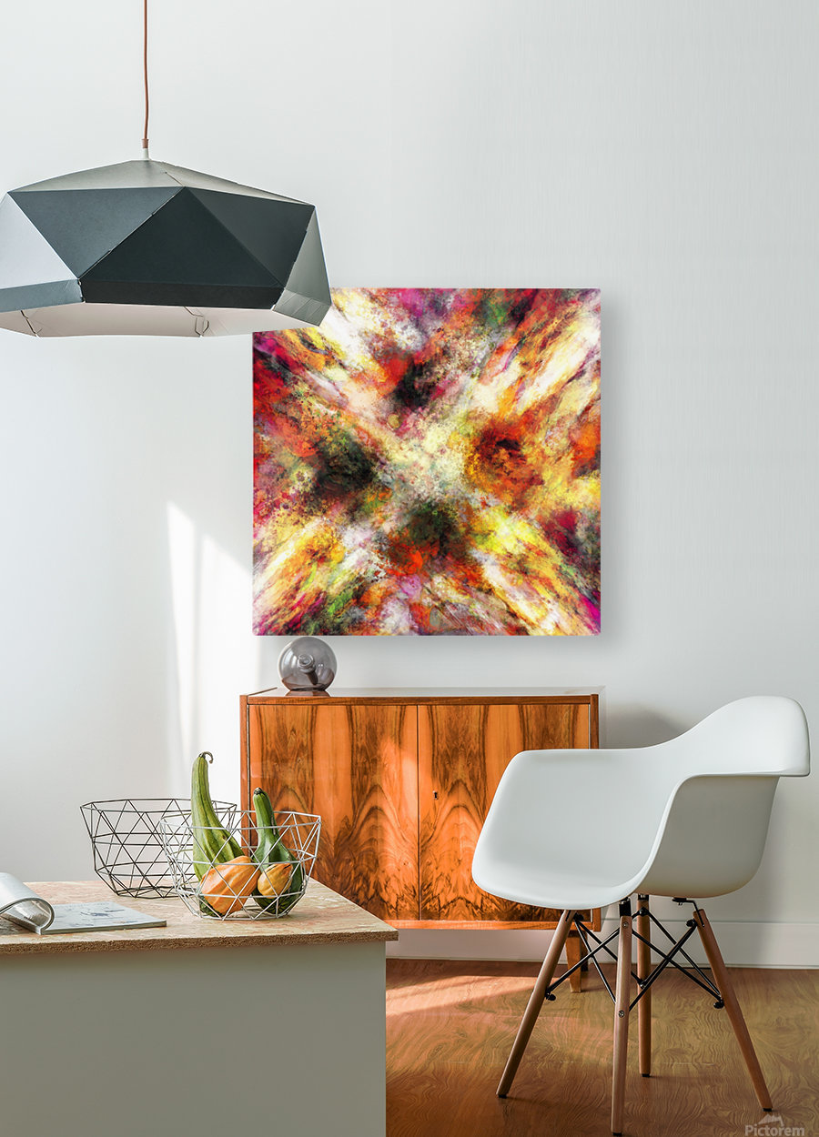 Back to the fires  HD Metal print with Floating Frame on Back