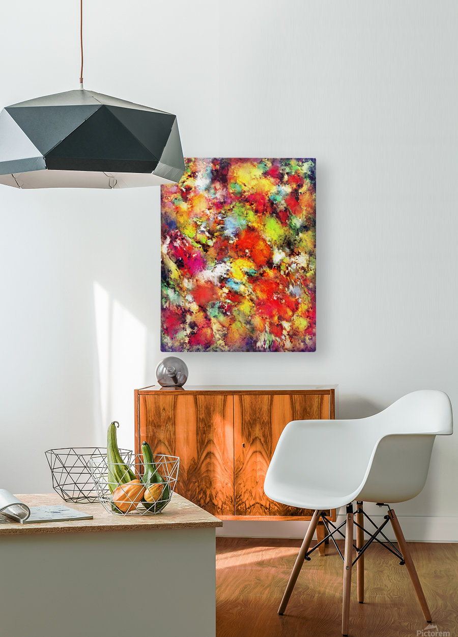 Big colour storm  HD Metal print with Floating Frame on Back