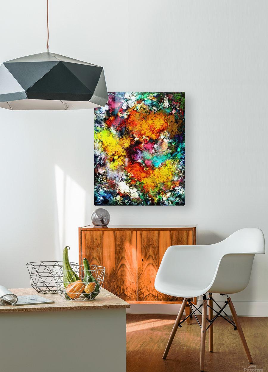 Blaze  HD Metal print with Floating Frame on Back