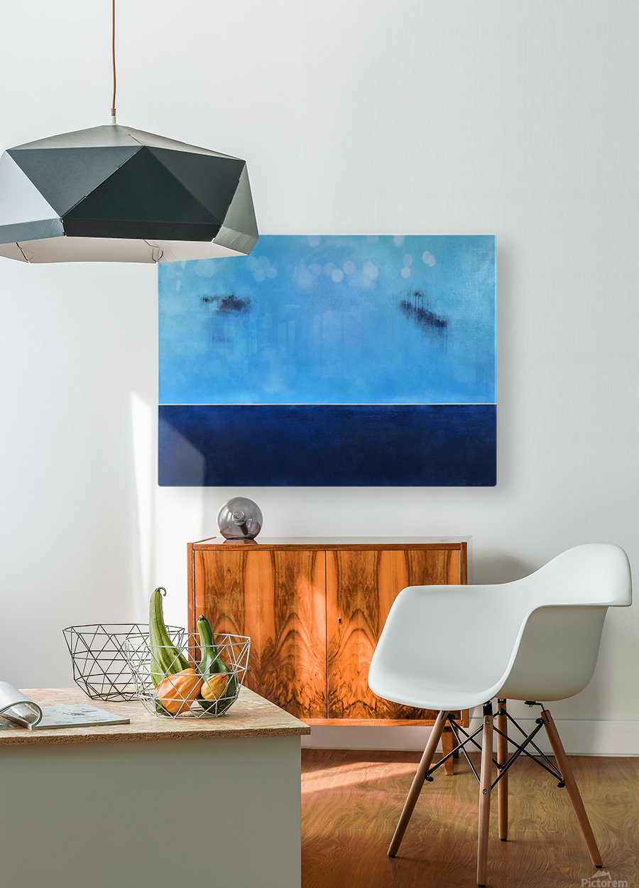 Golden Horizon Deep Blue Sea II  HD Metal print with Floating Frame on Back