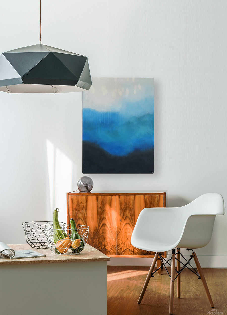 Tranquility Blue II.  HD Metal print with Floating Frame on Back