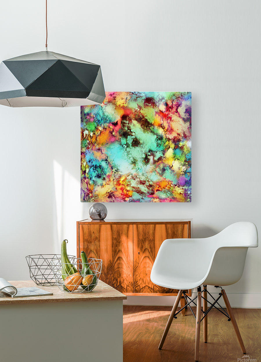 Crunch  HD Metal print with Floating Frame on Back