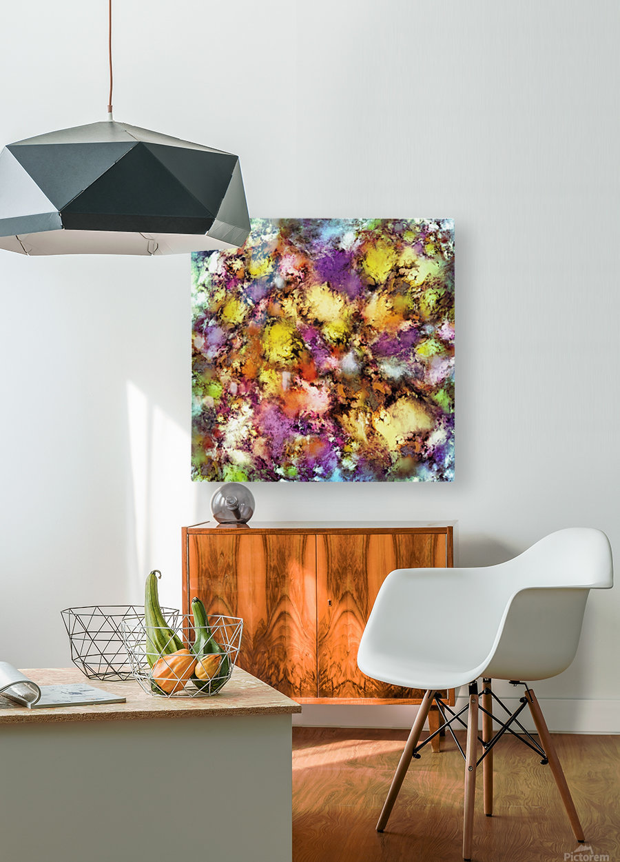 Dismantling the flowers  HD Metal print with Floating Frame on Back