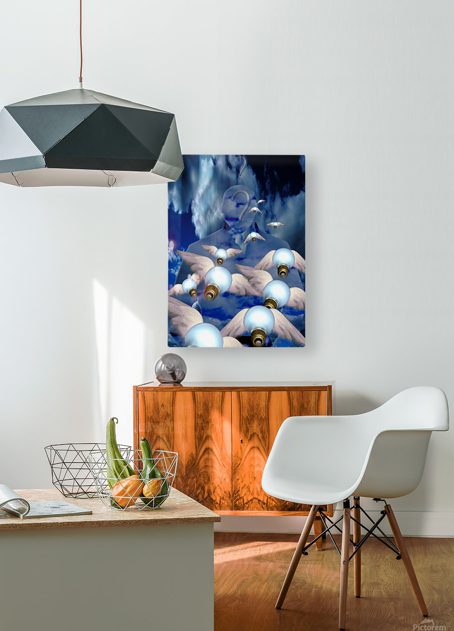 Flow of Ideas  HD Metal print with Floating Frame on Back