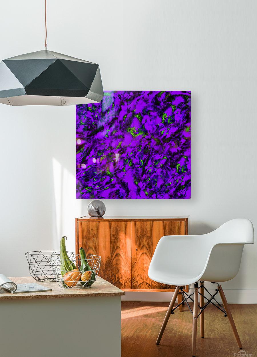 Fluttering purple  HD Metal print with Floating Frame on Back
