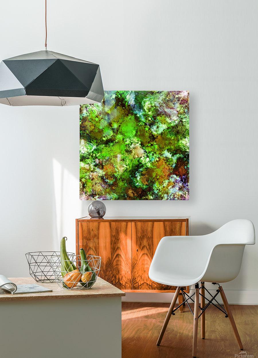Green scene  Impression métal HD avec cadre flottant sur le dos