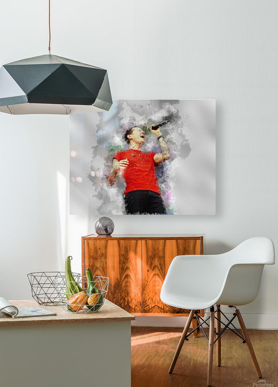 Chester Charles Bennington  HD Metal print with Floating Frame on Back