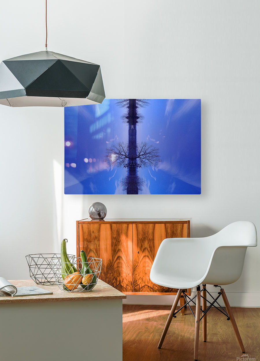 Cloudes 100  HD Metal print with Floating Frame on Back