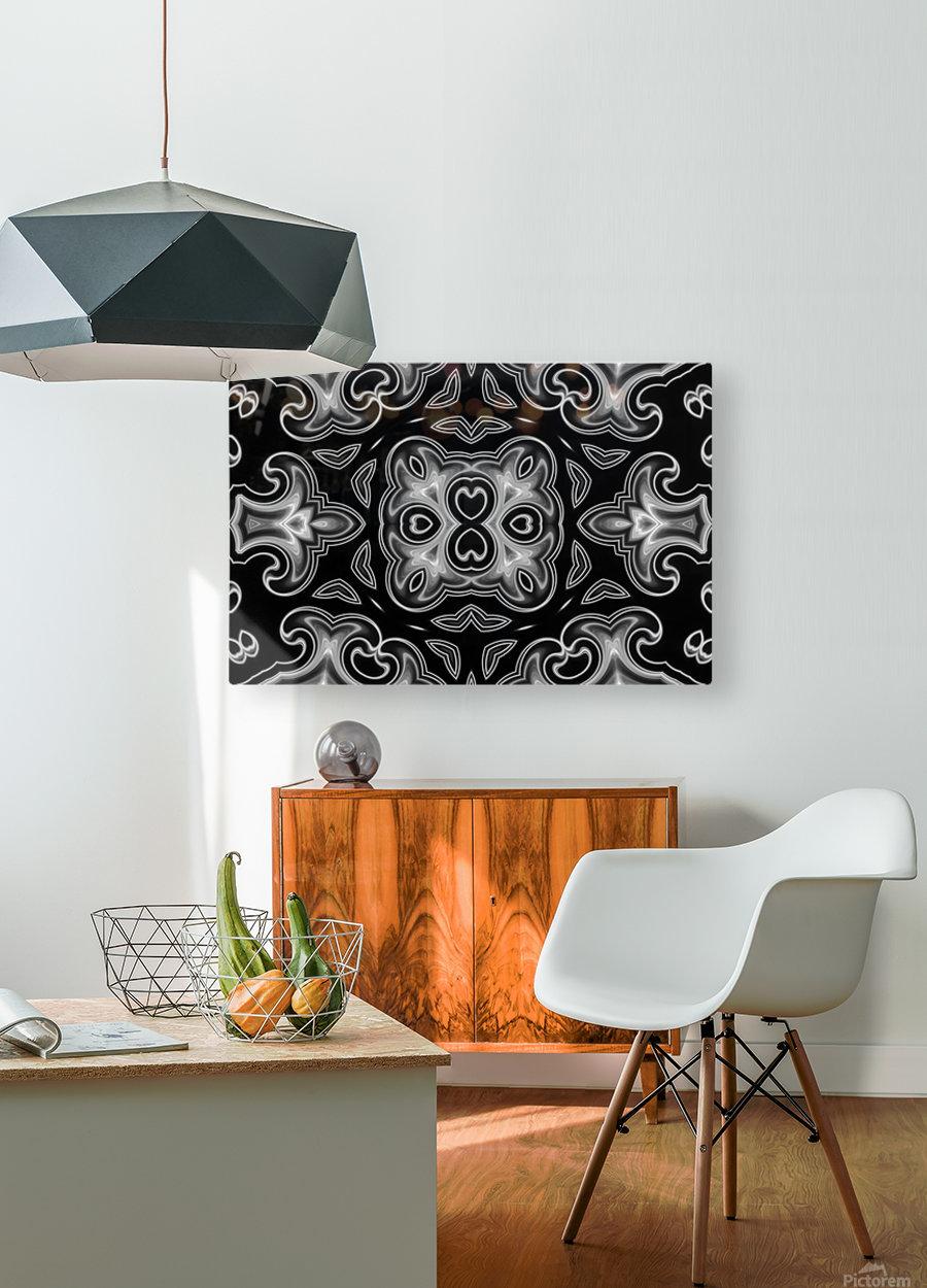 Fine art - Fractal  HD Metal print with Floating Frame on Back