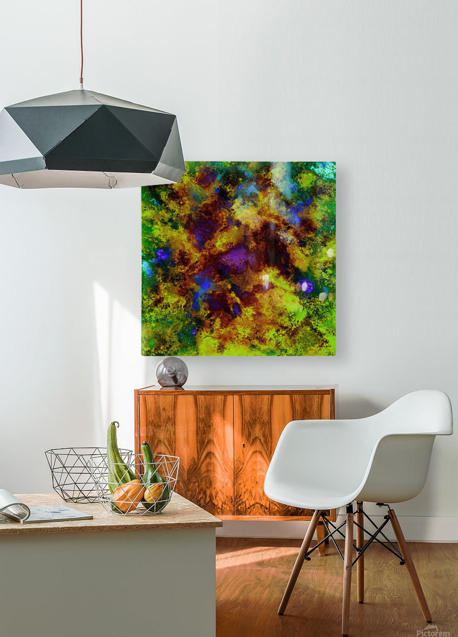 Background noise  HD Metal print with Floating Frame on Back
