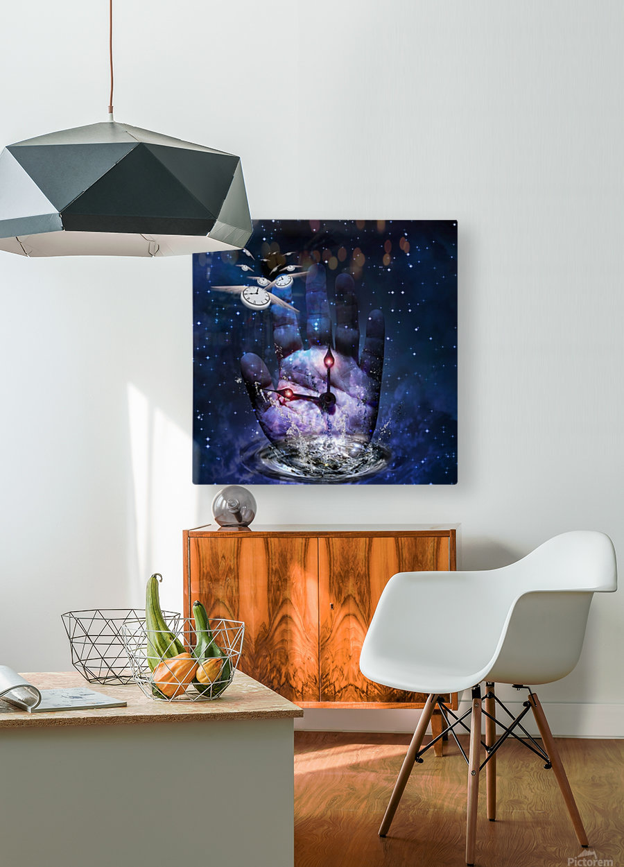 Hand of Time  HD Metal print with Floating Frame on Back