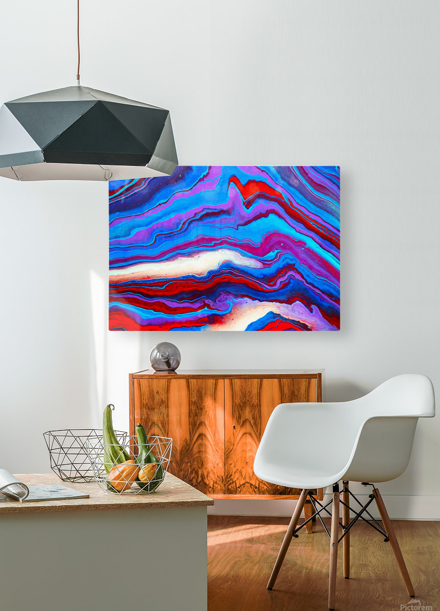 Mountain  HD Metal print with Floating Frame on Back