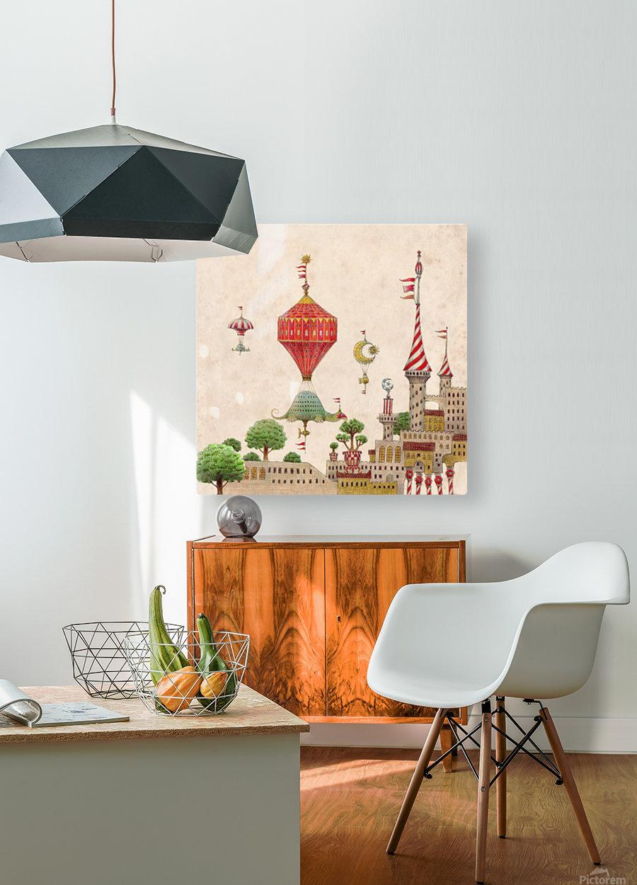 Tartlellino Balloone  HD Metal print with Floating Frame on Back