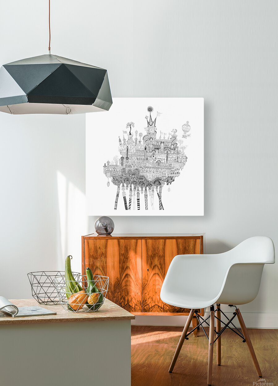 Oasis  HD Metal print with Floating Frame on Back