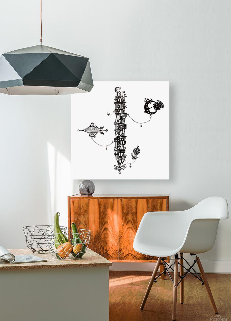 Castellini di Luna  HD Metal print with Floating Frame on Back