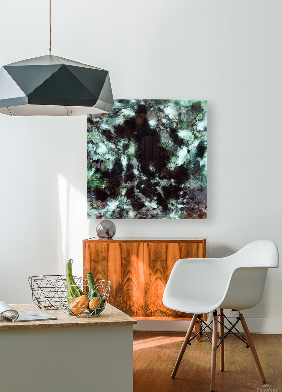 Loom  HD Metal print with Floating Frame on Back