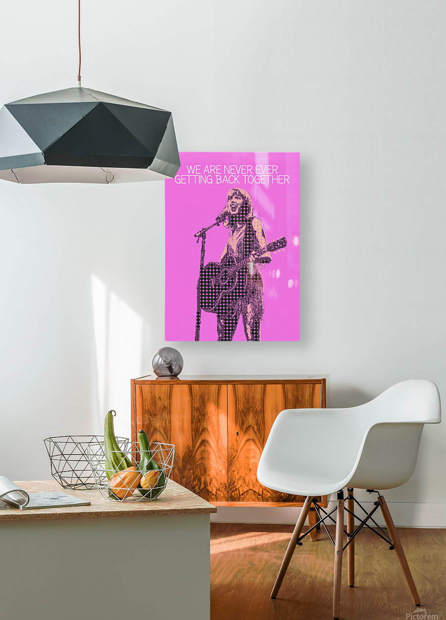 We Are Never Ever Getting Back Together   Taylor Swift  HD Metal print with Floating Frame on Back