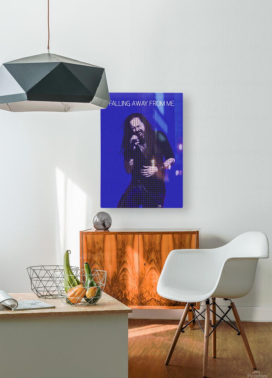 Falling Away from Me   Jonathan Davis   Korn  HD Metal print with Floating Frame on Back
