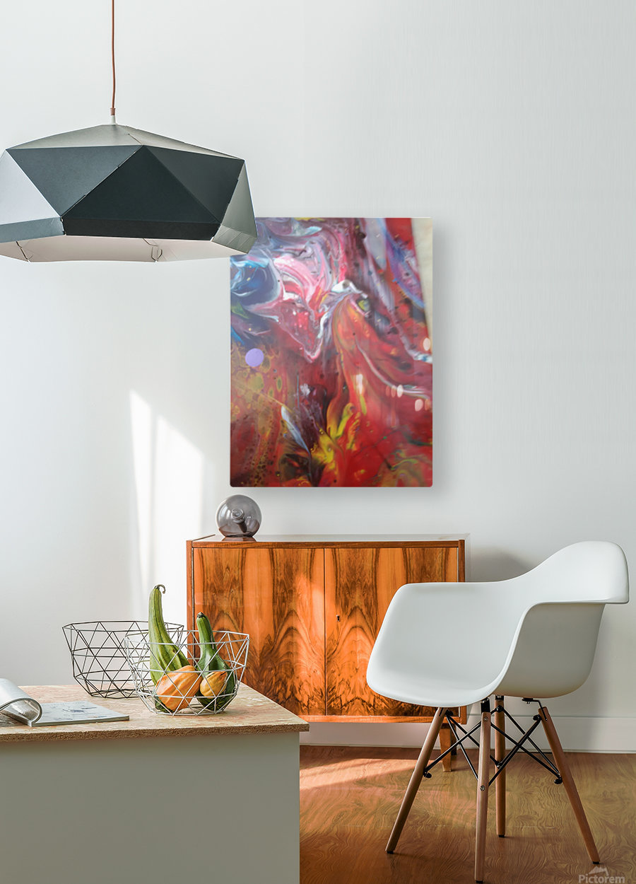 purgutry  HD Metal print with Floating Frame on Back