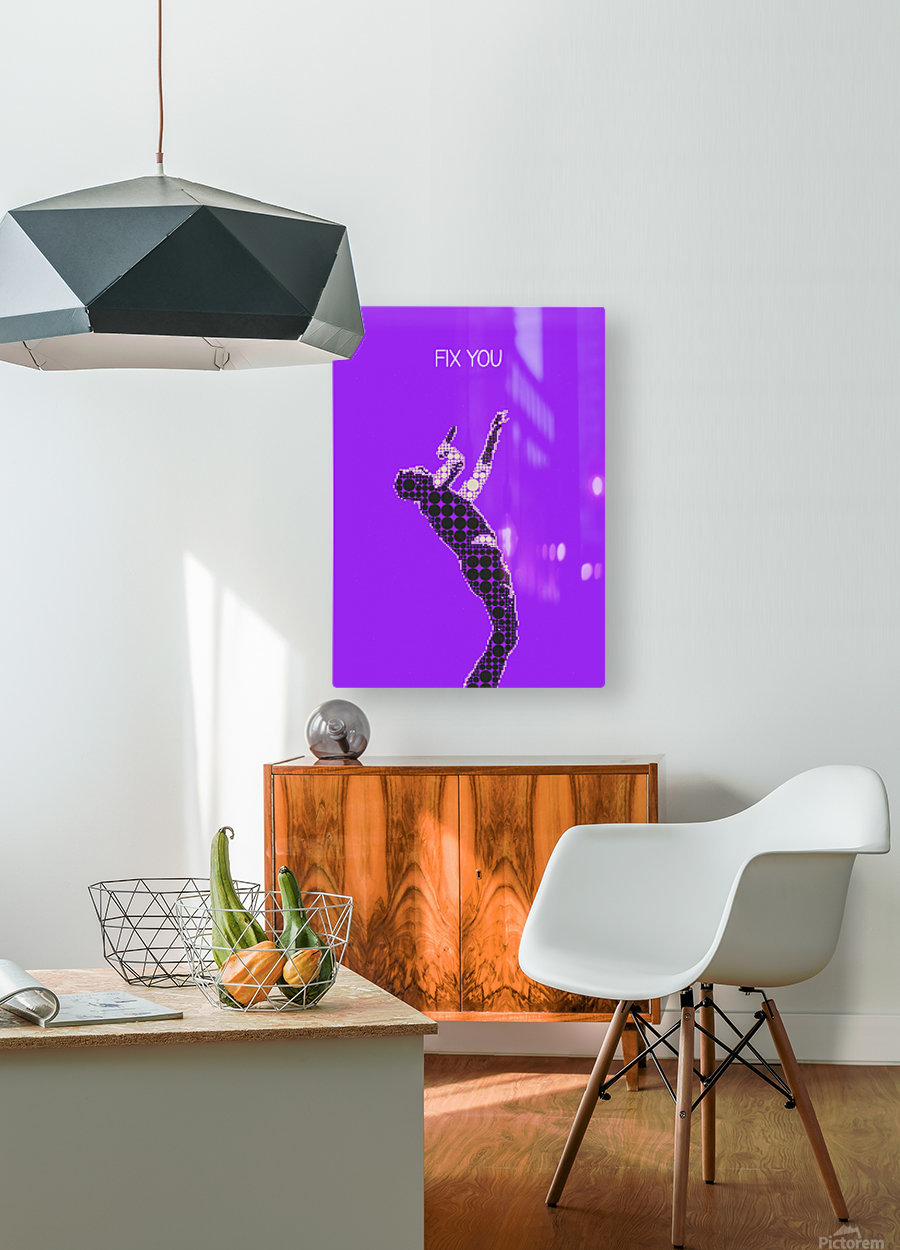 Fix You   Chris Martin  HD Metal print with Floating Frame on Back