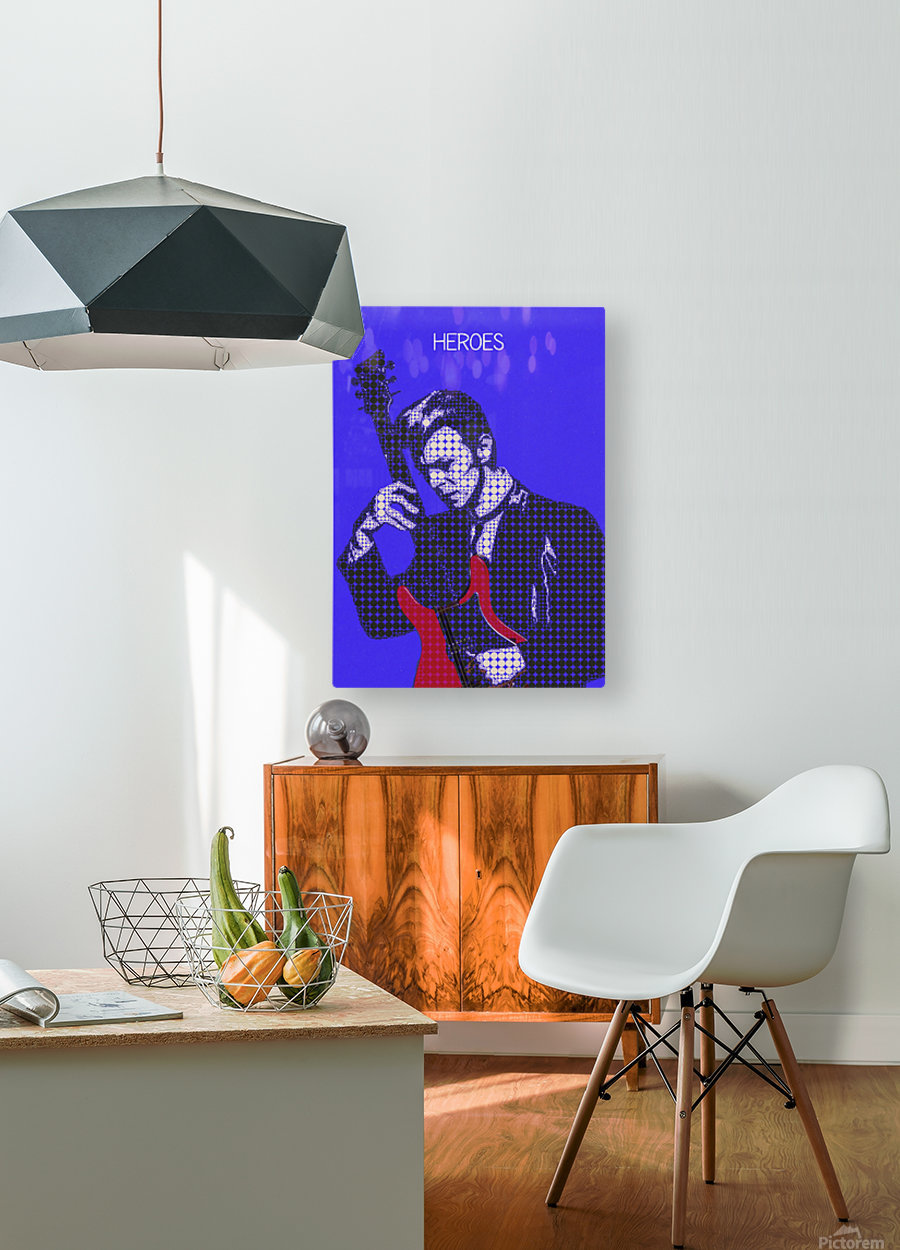 Heroes   David Bowie  HD Metal print with Floating Frame on Back