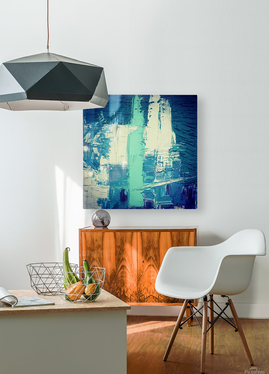 atlantis eternal  HD Metal print with Floating Frame on Back