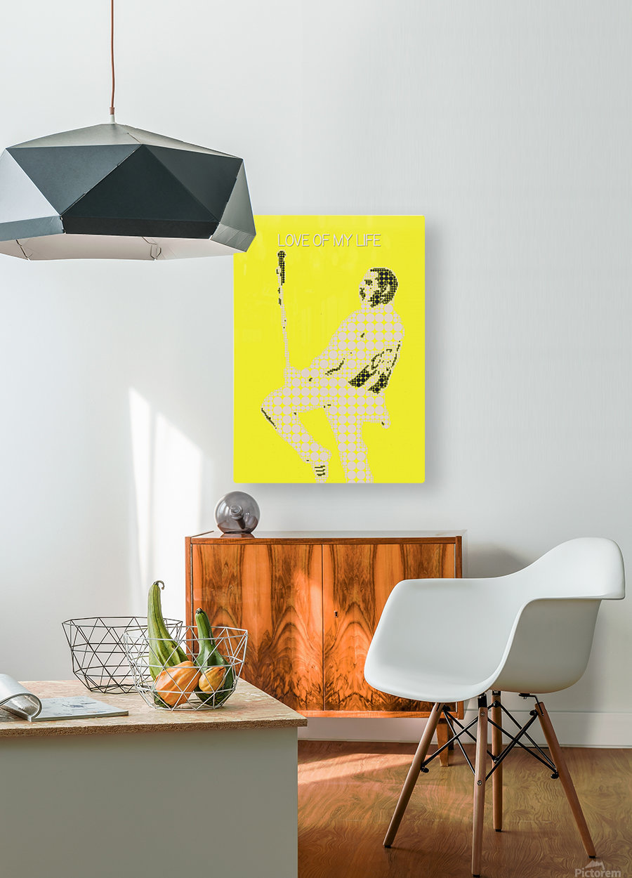 Love of My Life   Freddie Mercury  HD Metal print with Floating Frame on Back