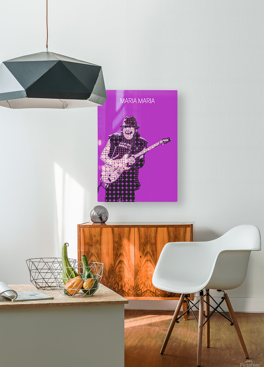 Maria Maria   Carlos Santana  HD Metal print with Floating Frame on Back
