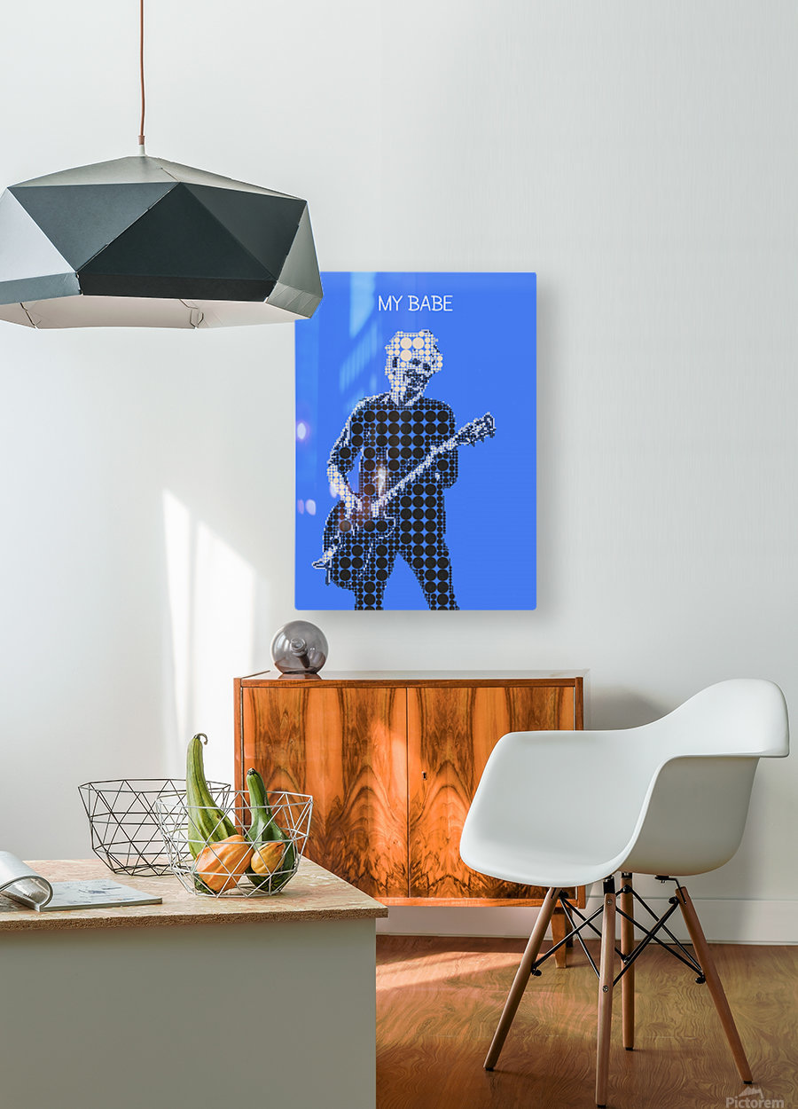 My Babe   Keith Richards  HD Metal print with Floating Frame on Back