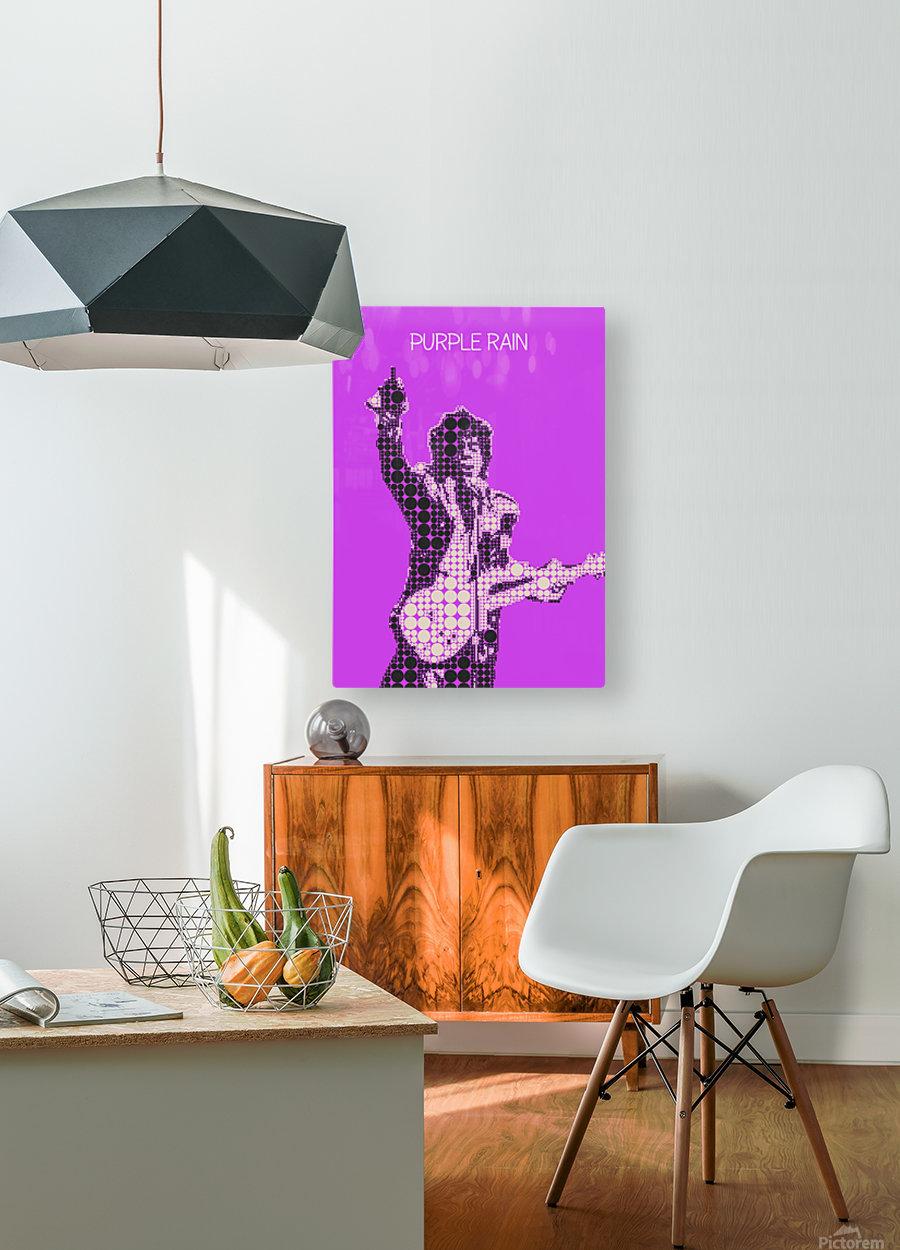 Purple Rain   Prince  HD Metal print with Floating Frame on Back