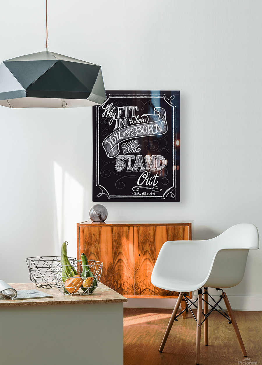 Why Fit In  HD Metal print with Floating Frame on Back