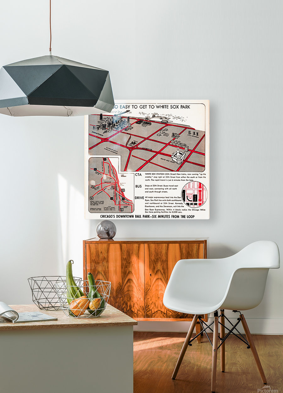 chicago map  HD Metal print with Floating Frame on Back