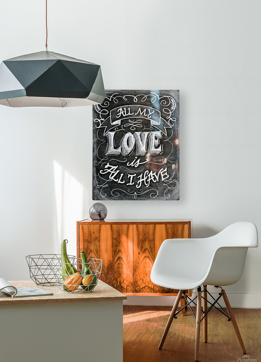 allloveprint  HD Metal print with Floating Frame on Back