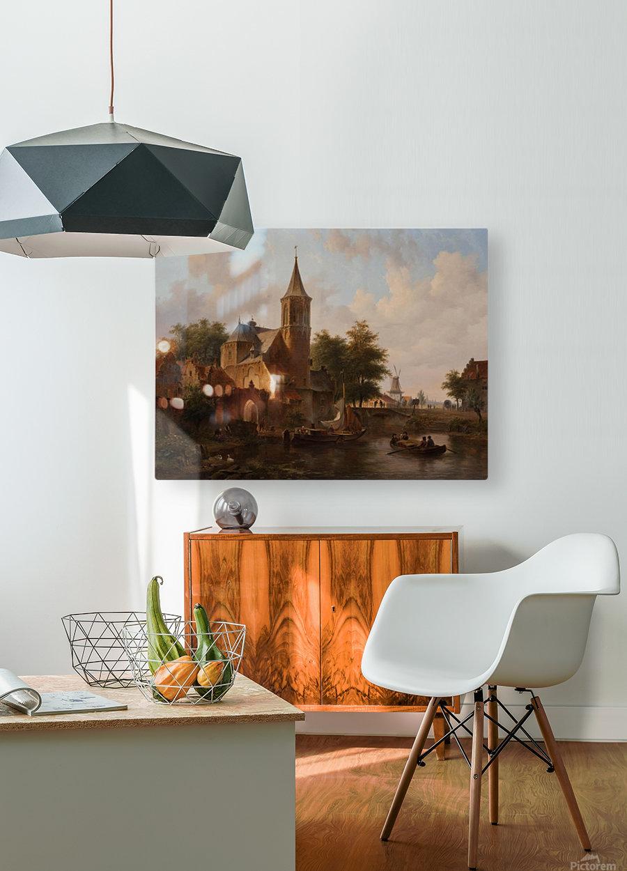 Stadsgezicht mogelijk Den Haag  HD Metal print with Floating Frame on Back