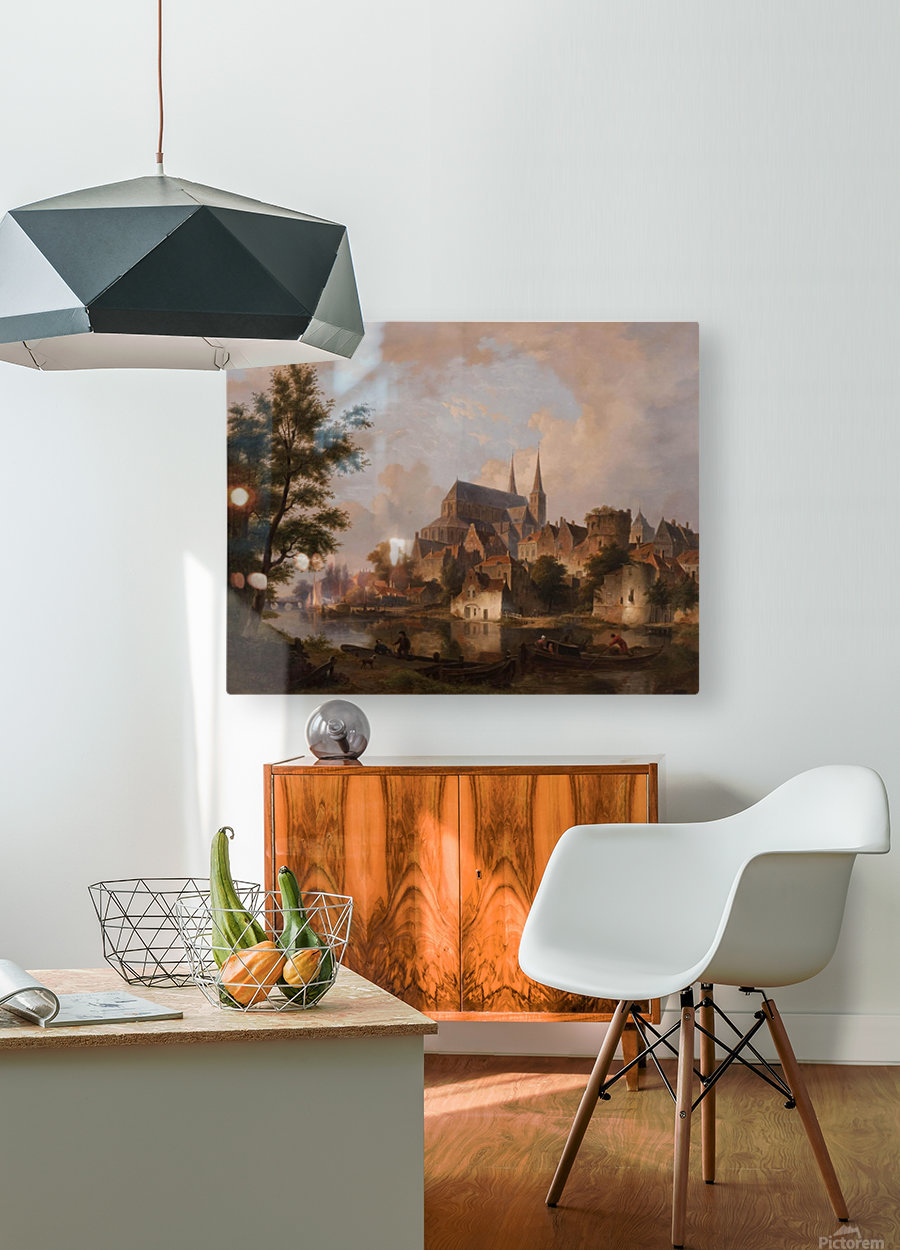 Capriccio stadsgezicht, elementen Deventer  HD Metal print with Floating Frame on Back