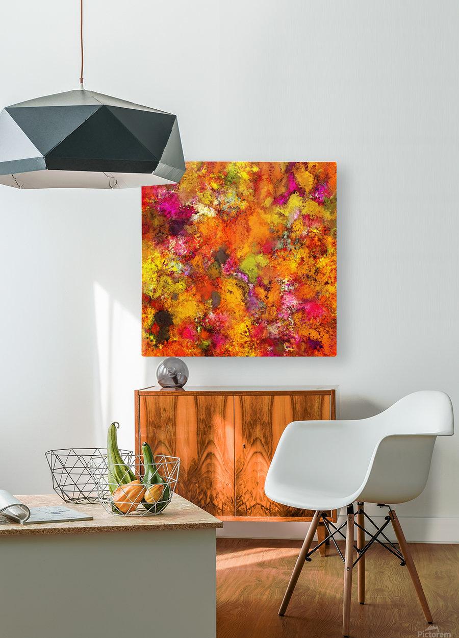 Orange pop  HD Metal print with Floating Frame on Back