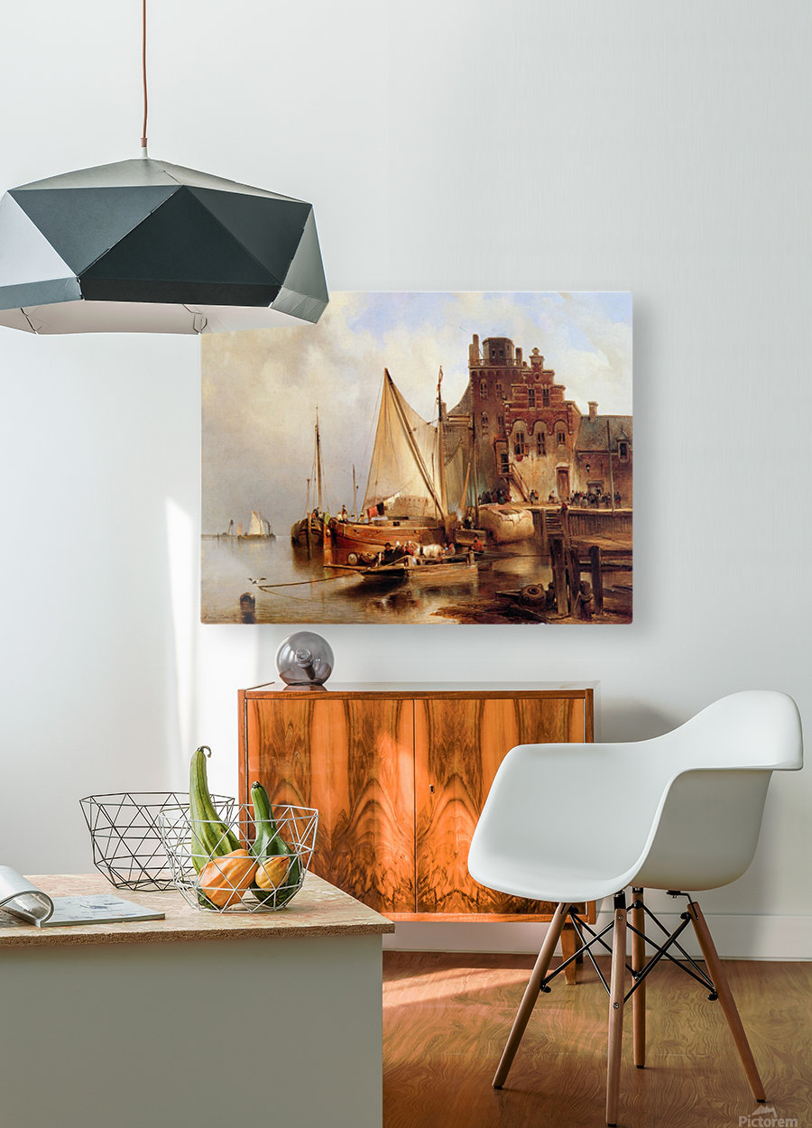Hove van H - The ferry - Sun  HD Metal print with Floating Frame on Back