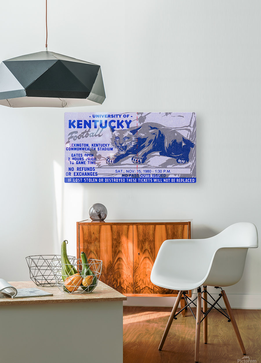 university kentucky wildcats football ticket stub wall art  HD Metal print with Floating Frame on Back