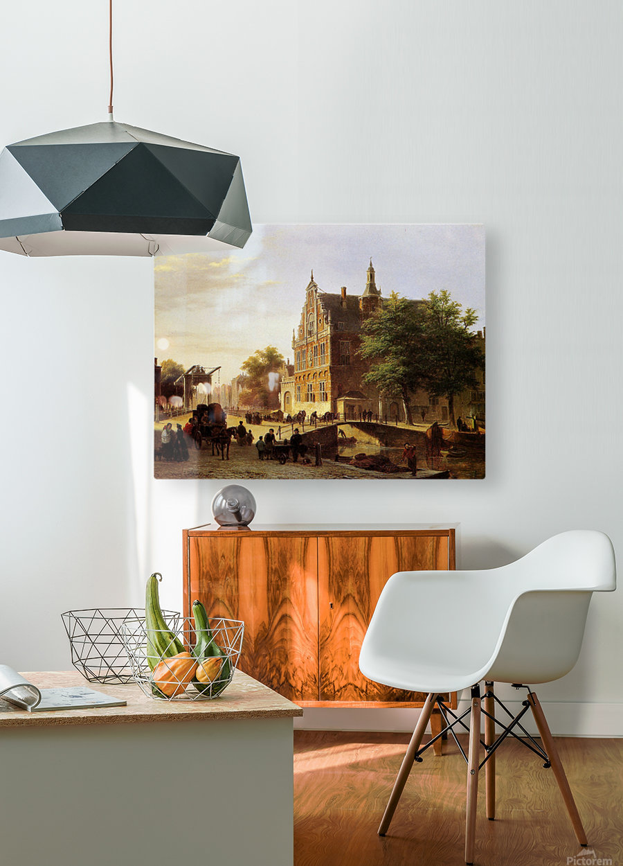 City view Sun  HD Metal print with Floating Frame on Back