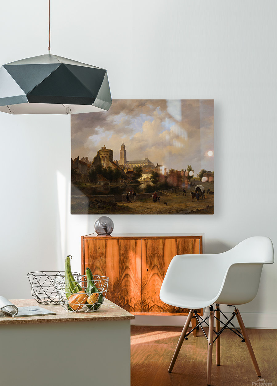 Gezicht op Deventer  HD Metal print with Floating Frame on Back