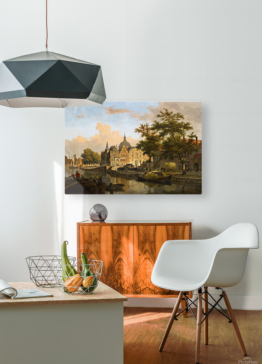 View of a Dutch City  HD Metal print with Floating Frame on Back