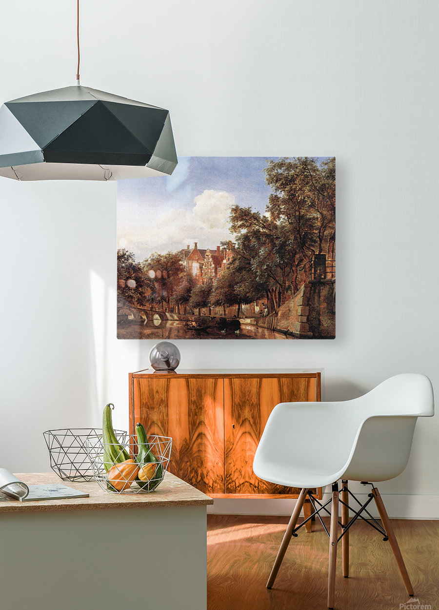 View of the Herengracht, Amsterdam  HD Metal print with Floating Frame on Back
