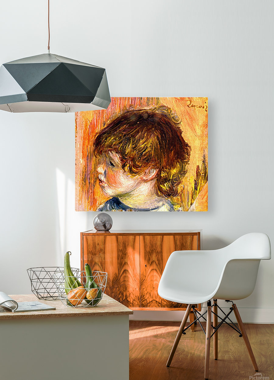 Head of a young girl  HD Metal print with Floating Frame on Back