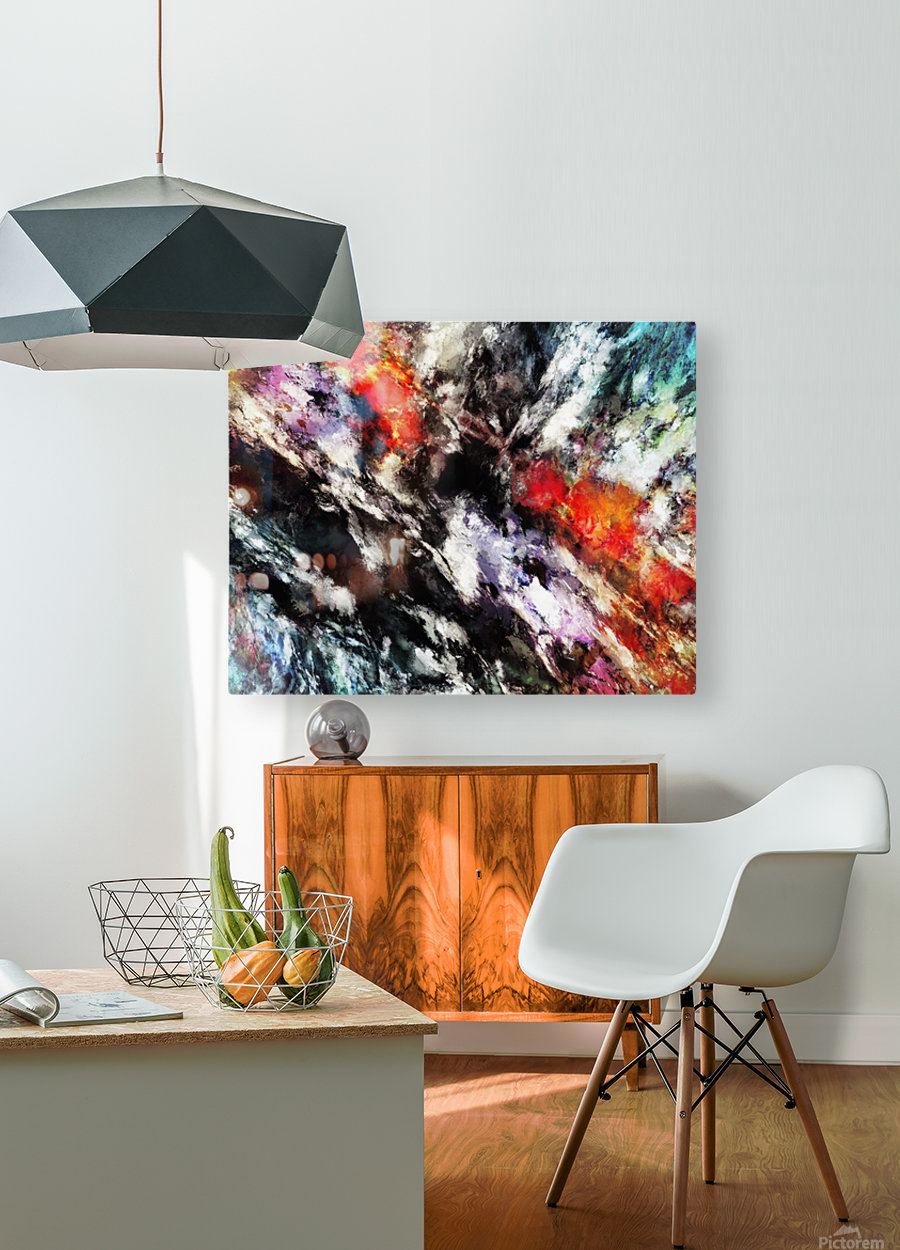 Rattle  HD Metal print with Floating Frame on Back