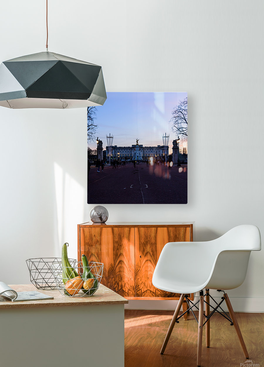 Dusk at Buckingham Palace London  HD Metal print with Floating Frame on Back