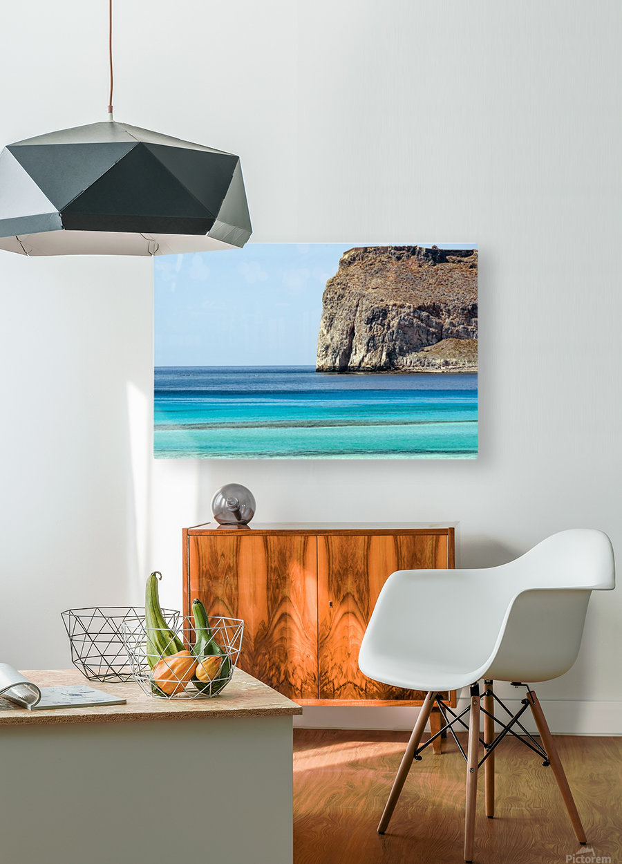 Blue tones  HD Metal print with Floating Frame on Back