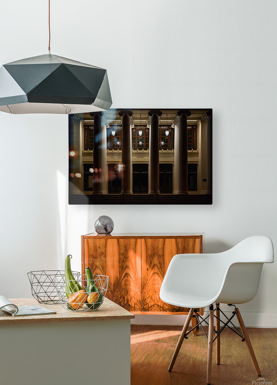 Night Pillars  HD Metal print with Floating Frame on Back